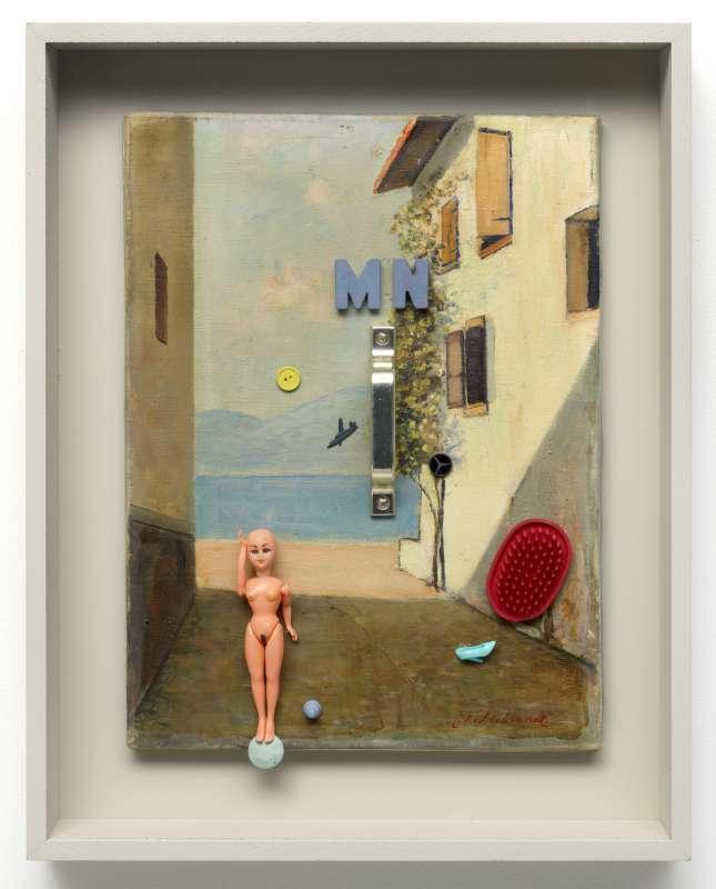 Italiaans nachtlandschap (hommage aan La Pittura Metafysica), 2015 - 16
