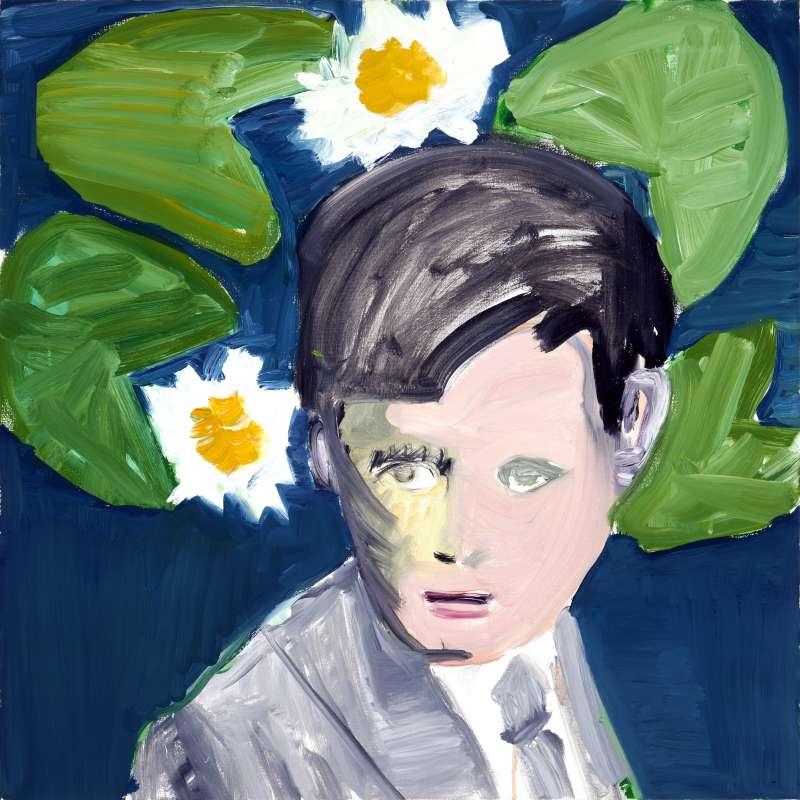 Emo Verkerk, Flann O' Brien, 2011, oil on canvas, 60 x 60 cm