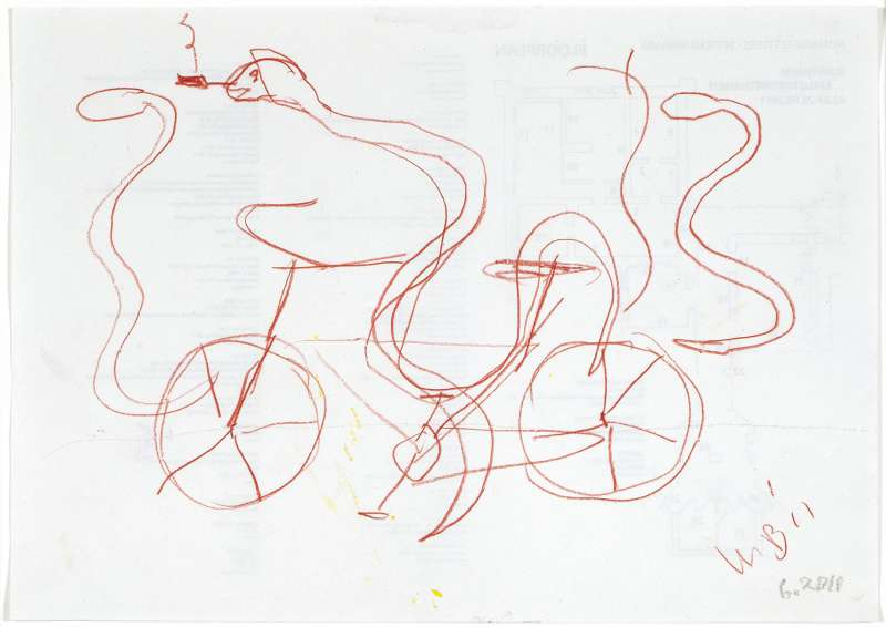 snake on a bike, 2011