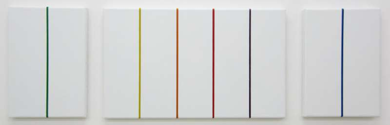 Triptych for Cupertino (white), 2013