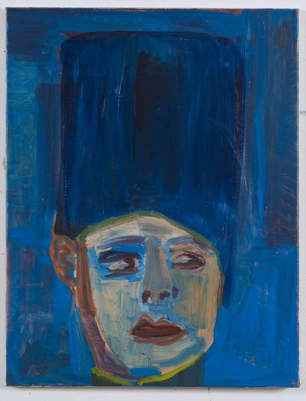 Emo Verkerk - Portrait of Rudolph Valentino, 1992