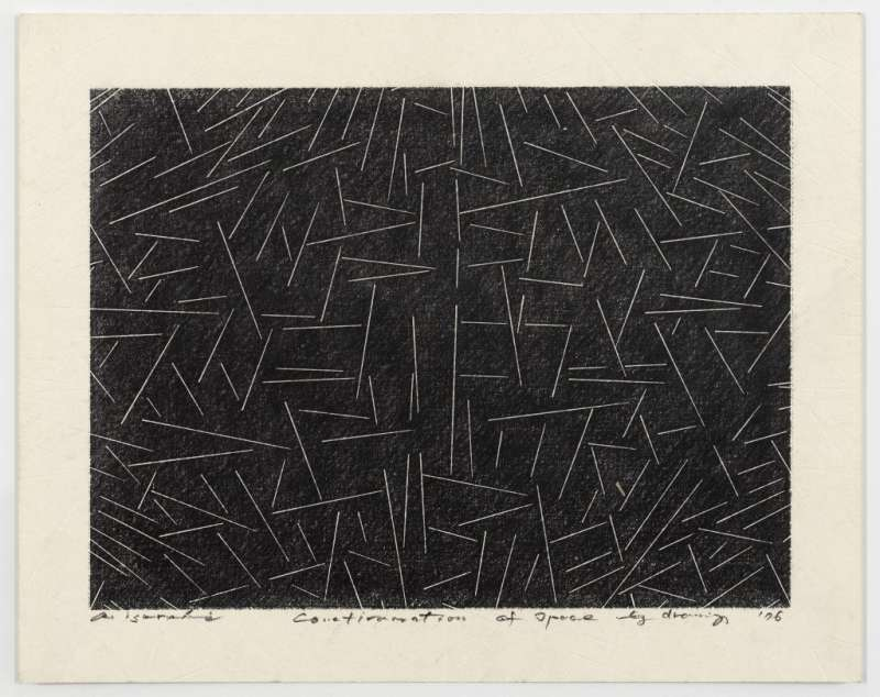 Akio Igarashi, Confirmation of Space by Drawing, 1976