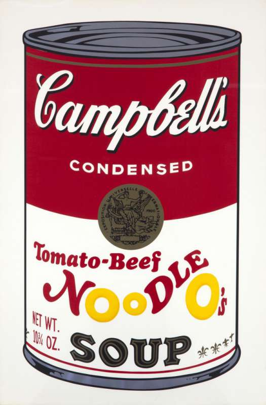 Campbell's Soup II (Tomato-Beef Noodle O's Soup), 1969