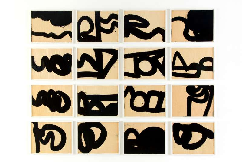 Al Held, Untitled (16 sheets), 1959,