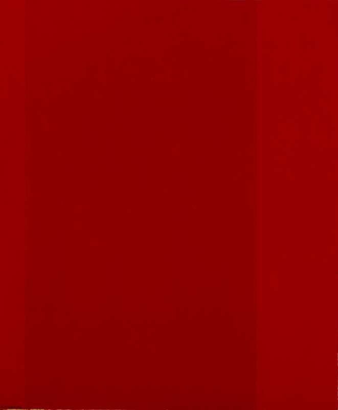 Amédée Cortier, Composition with three fields in two different shades of red, 1973-74