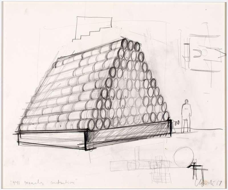 Christo, 441 Barrels Construction, 1967