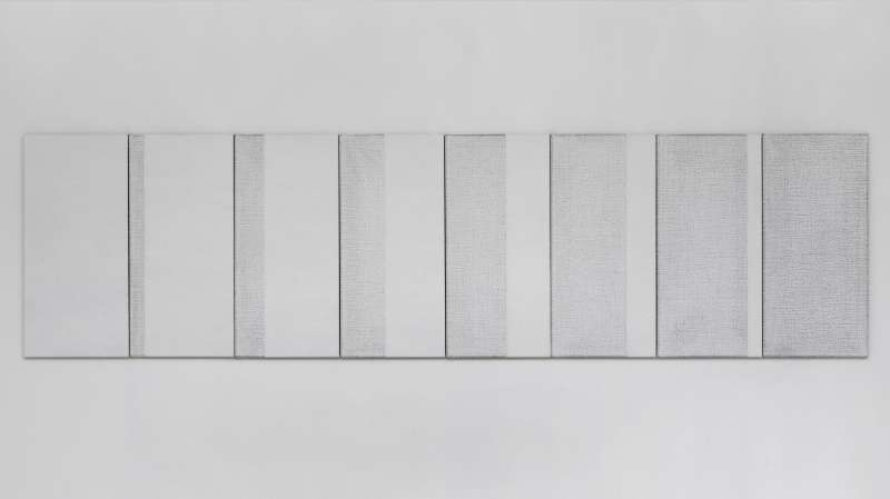Seven in Eight # 2, white, 2018